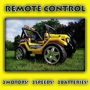 12V Power Kids Ride on Car Remote Control Battery Wheels RC Jeep Wrangler