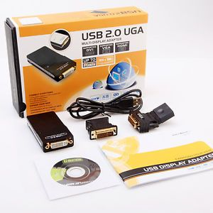 USB 2 0 UGA to DVI VGA HDMI Multi Display Dual Monitor Converter Adapter PC AC12