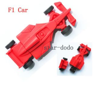 F1 Racing Car USB 2 0 Flash Memory Drives 4GB 8GB 16GB 32GB Stick Pen Thumb