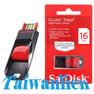SanDisk Cruzer Edge Flash Pen Drive Memory Stick 16GB