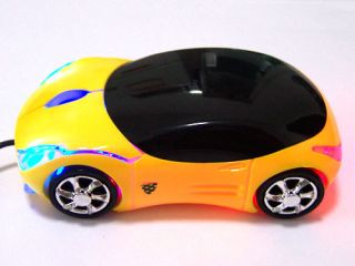 Black Cool Car 3D USB LED Optical Mouse Mice for PC Laptop Computer Notebook