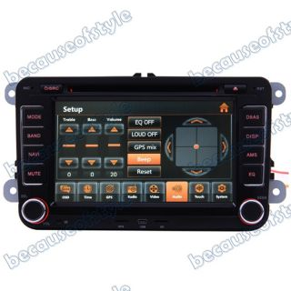 03 08 VW Golf MK5 V Car GPS Navigation Radio TV Bluetooth USB  iPod DVD Unit