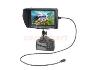 "7"" 7 inch HD TFT LCD Video Camera Monitor Screen HDMI DVI VGA 619AH 800×480 16 9"
