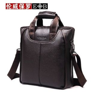 Genuine Leather Men's Handbag Messenger Shoulder Briefcase Laptop Bag Purse 9706