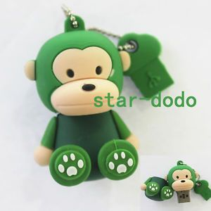 16GB Green Sit Monkey USB 2 0 Flash Memory Stick Drive Green