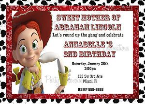 Details about Printable Toy Story Jessie Birthday Party Invitation
