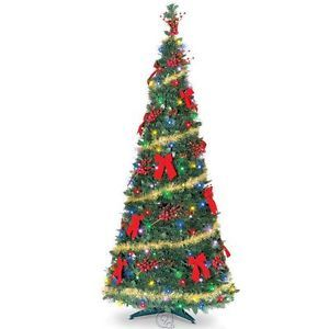 The Cordless Prelit Pop Up Christmas Tree 6 Feet Tall Multicolored Lights
