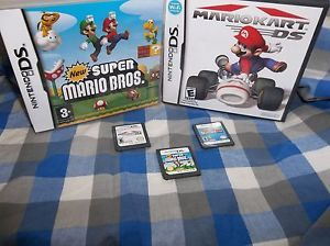 Nintendo DS Game Lot Mario Kart DS New Super Mario Bros Diddy Kong Racing