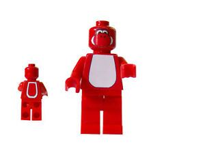 Custom Lego Red Yoshi Super Mario Bros Nintendo Wii