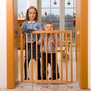 "Oggi SG 22 Hard Wooden Safety Baby Child Gate Gear Dog Pet Durable Wood 29"" High"