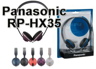 Original Panasonic RP HX35 Stereo Headphone Red Black Blue White Purple