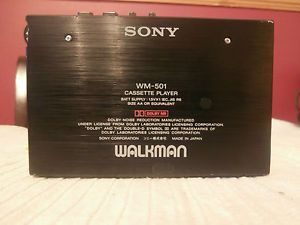Vintage Sony Walkman Personal Cassette Player Wm 501 Custom Case Made in Japan