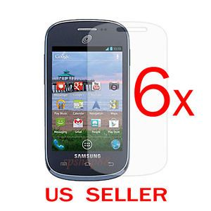 6X Samsung Galaxy Centura S738C Straight Talk Clear LCD Screen Protector Film