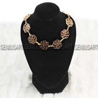 Black Mannequin Necklace Jewelry Pendant Display Stand Bust Holder Show Decorate