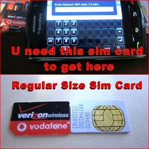 Verizon Used Sim Card to Boot Unlock Blackberry Phones or Unlock GSM Phone Look