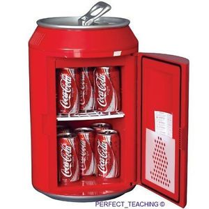 New Coke Coca Cola Can Small Mini Fridge Refrigerator Cooler Office Home Room