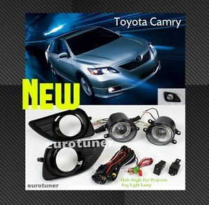 2010 11 Toyota Camry OE Style Halo Angle Eye Projector Fog Light Lamp Kit