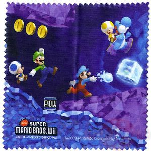 Underground Microfiber Cloth New Super Mario Bros Wii Screen Cleaner Wiper 3DS