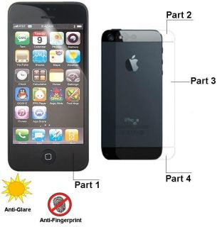 Anti Glare Front and Back Screen Protector with Cleaning Cloth Apple iPhone 5 5g