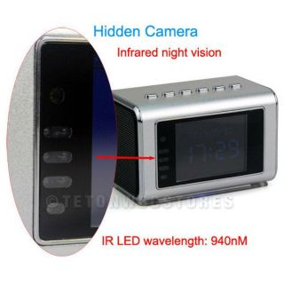 Hidden Camera Mini Clock Radio DVR Spy Nanny Cam