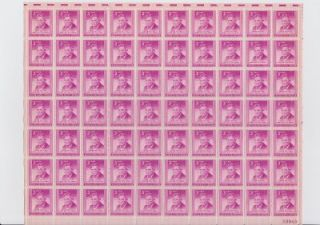 Vintage Will Rogers 3 Cent USA Stamps Postages Sheet of 70 975