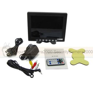 8 inch High Resolution TFT LCD Color CCTV Security Monitor with TV VGA RCA Input