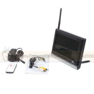 7inch TFT LCD Monitor 2 4GHz Wireless Receiver for CCTV Security System