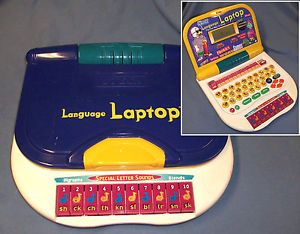 Vtech Language Laptop Electronic Learning Computer Vintage Toy Used