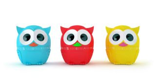 Retro Owl Shaped Kitchen Cook Timer Assorted Kitchen Decor Colors