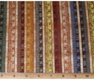 Rulers Measuring Tapes Mrs Sew Quilt Fabric 1 2yd