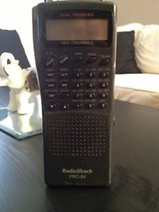 1000 Channel Radio Shack Police Scanner Digital Pro 94 Dual Trunking