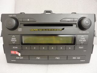 Toyota Corolla Satellite Radio Stereo  6 Disc Changer CD Player A51847