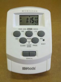 Woods Indoor Digital Timer Heavy Duty Two Outlets 59377