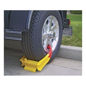 Trailer Locking ATV Security Clamp Boot Rim Tire Wheel Chock Clamp Lock Device