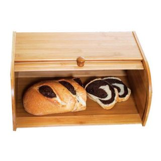Bamboo Roll Top Bread Box Kitchen & Dining