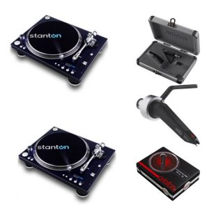 Stanton Str8 150 Direct Drive Turntables Pair Ortofon Concorde Pro s Cartri
