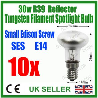 10x 30W R39 Reflector Spot Light Lava Lamp Bulb Ses E14