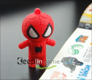 New 8GB Fashion Cartoon Spider Man Shape USB 2 0 Flash Memory Disk Drive Pen