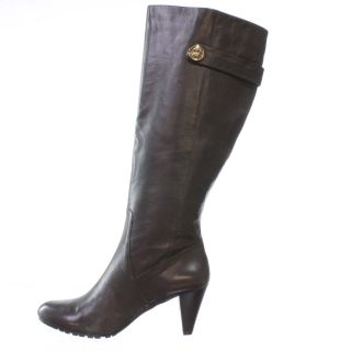 AK Anne Klein Savilia Knee High Boot Dark Brown 10