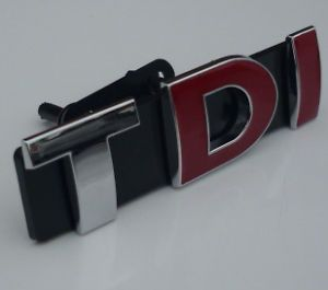 TDI Grill Badge Emblem for VW Golf Polo Passat Bora Jetta Seat Leon Audi A3 A4