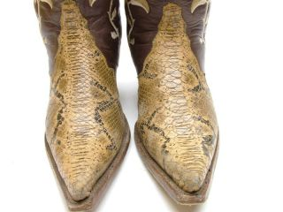 Vtg Womens Rudel Brown Leather Flowers Cowboy Western Boots Size 6 E 6E