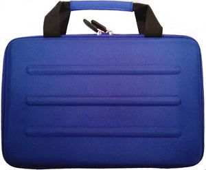 Microsoft Surface Pro 2 RT Deluxe Blue Hard Shell Zippered Travel Case Eva