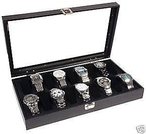 18 Wrist Watch Glass Top Jewelry Display Case Travel