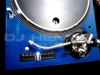 2 Custom Blue Technics SL1200 M3D White LEDs Turntables