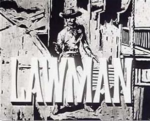 """Lawman"" Fridge Magnet John Russell TV Logo New"