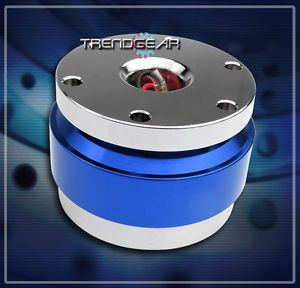 Universal Steering Wheel Quick Release Hub Adapter Kit Blue Chevy Chrysler Dodge
