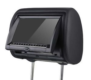 7 inch LED Digital Touch Screen Car Headrest Monitor with USB SD Speakers