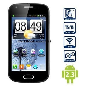 Android Note Smart Cell Phone MTK6515 New Unlocked Blue