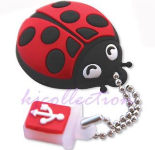 TDK Ladybird 4GB 4G USB Flash Pen Drive Disk Memory Stick Keychain Rubber Beetle