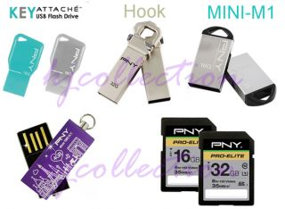 PNY Transformer Attache 32GB 32G USB Flash Drive Swing Hook Metal Lot of 5pcs